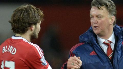 Daley Blind and Louis van Gaal