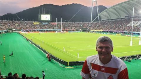 US military veteran Chris Wyatt is aiming to watch 18 of the 20 teams in action live at the 2019 Rugby World Cup
