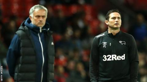 Frank Lampard Jose Mourinho Derby County Manchester United