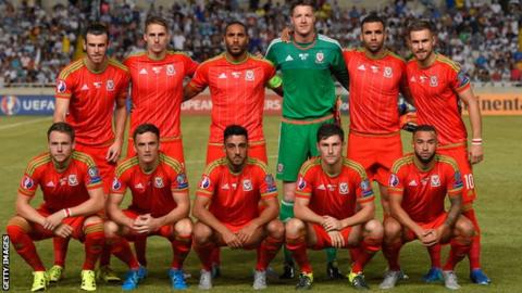 The Wales team that beat Cyprus 1-0 in Nicosia