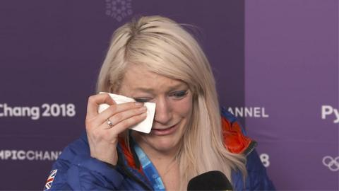 A distraught Elise Christie interview