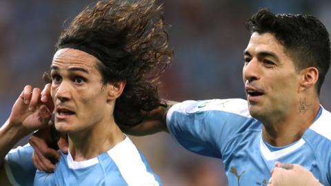Edinson Cavani and Luis Suarez