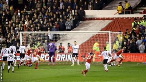 Yohan Benalouane's goal came after just 74 seconds at the City Ground