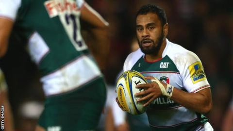 Telusa Veainu in action for Leicester