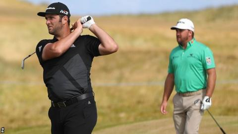 Jon Rahm and Graeme McDowell were among the early starters in the first round at Ballyliffin