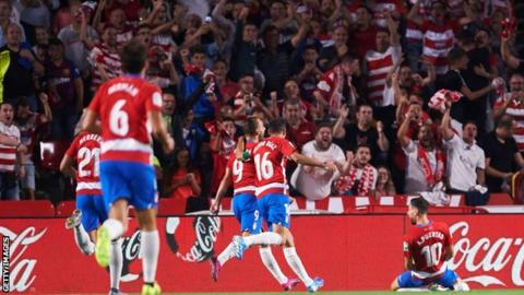 Granada stun Barcelona to move top of LaLiga