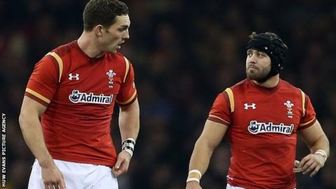 George North and Leigh Halfpenny