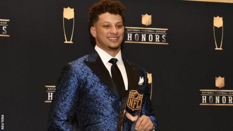 Kansas City Chiefs' Patrick Mahomes named NFL's MVP and top offensive player