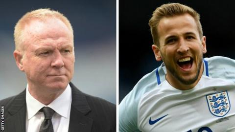 Former Scotland manager Alex McLeish and England striker Harry Kane