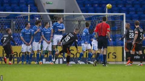 Craig Slater scores for Kilmarnock against St Johnstone