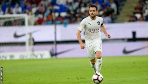 Xavi playing for Al Sadd