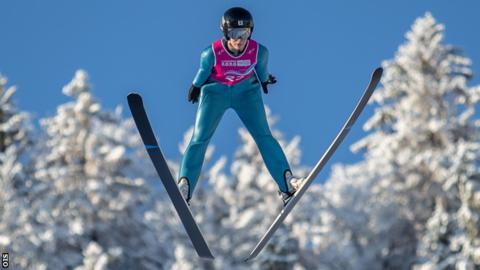 Cooper in action at the Winter Youth Olympic Games