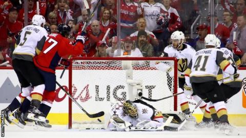 TJ Oshie opened the scoring during a first-period powerplay for Washington  Capitals 9c703ac00c7