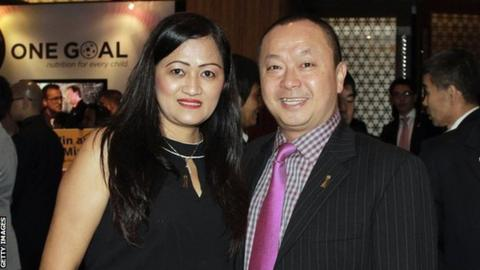 Richard Lai (right), and his wife Irma Lai.