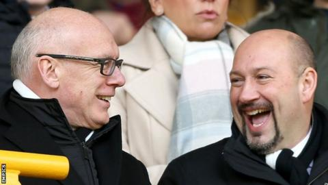 Sam Rush helped Mel Morris (left) complete his takeover of Derby County in September 2015