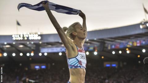 Lynsey Sharp beat Marina Arzamasova in the IAAF World Challenge