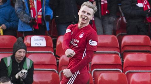 Aberdeen winger Gary Mackay-Steven scored three goals in a comfortable victory