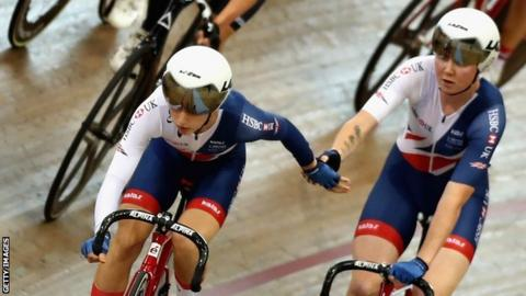Great Britain's Laura Kenny and Katie Archibald