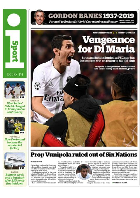 i back page on Wednesday