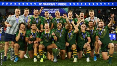 Australia celebrate World Cup 9s win