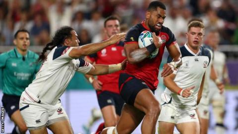 Rugby World Cup: England wing Joe Cokanasiga - from dancer to main event