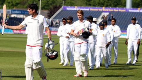 Alastair Cook leads England off at Chester-le-Street