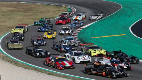 BARCELONA, SPAIN - JULY 23: A group photo of the cars at the WEC Prologue on July 23, 2019 in Barcelona, Spain. (Photo by James Moy Photography/Getty Images)