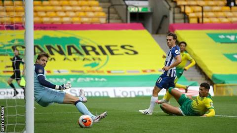 Leandro Trossard scored his first goal since netting against Aston Villa on 18 January