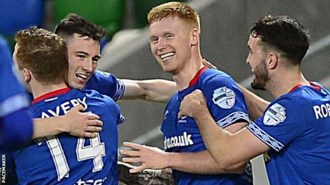 Linfield have won three league games in a row