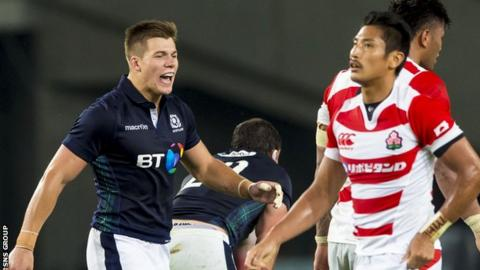 Huw Jones enjoyed his first taste of action for Scotland