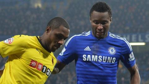 Odion Ighalo and John Mikel Obi