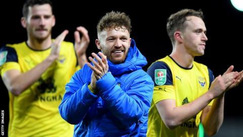 Oxford United celebrate