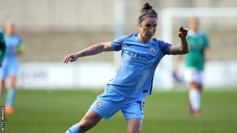 Manchester City striker Jane Ross