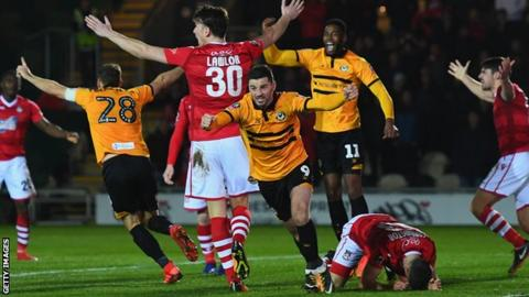 Newport County beat Leicester City in FA Cup third round