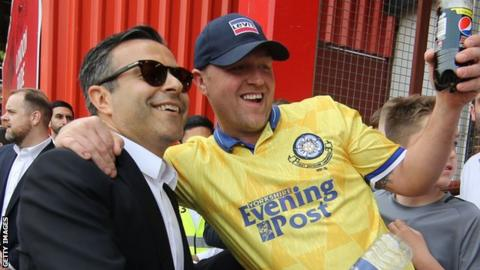 Andrea Radrizzani with Leeds fans