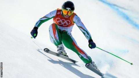 Patrick McMillan finished nine seconds behind Norwegian winner Aksel Lund Svindal