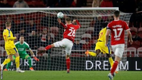 Lewis Wing scores for Middlesbrough