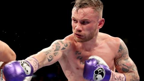 Carl Frampton's only professional defeat came against Leo Santa Cruz in January