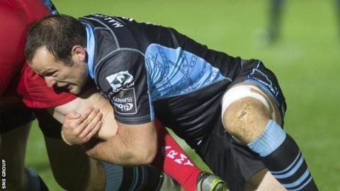 James Eddie in action for Glasgow
