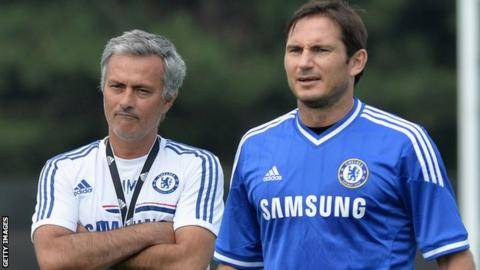 Jose Mourinho and Frank Lampard