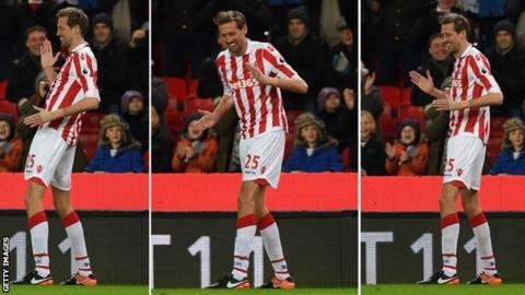 Crouch gained notoriety for his trademark 'robot' goal celebration