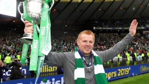 Lennon steered Celtic to Scottish Cup success - their ninth consecutive domestic honour - in May