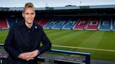 Scotland head coach Shelley Kerr at Hampden