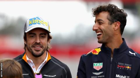 Fernando Alonso and Daniel Ricciardo