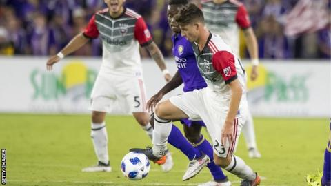 Ian Harkes in action for DC United