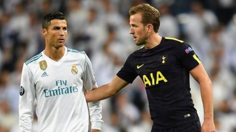 Harry Kane and Cristiano Ronaldo