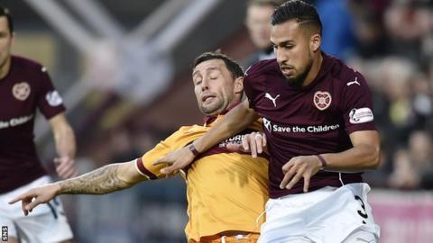 Hearts defender Faycal Rherras