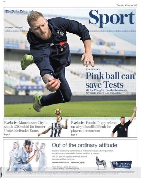 Thursday's Telegraph Sport