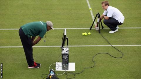 Hawk-Eye technology at Wimbledon