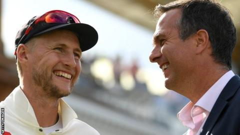 Joe Root and Michael Vaughan